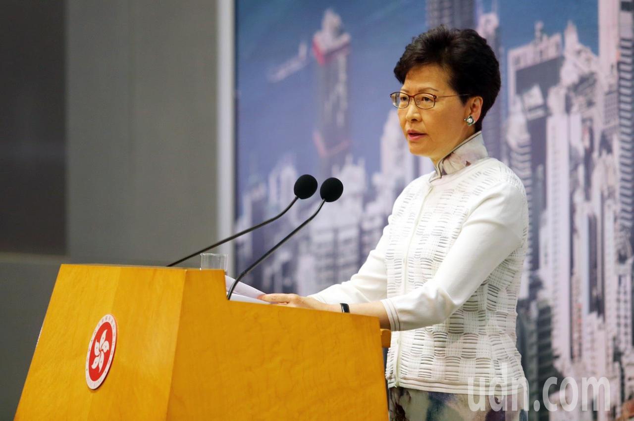 香港特區政府行政長官林鄭月娥下午3舉行記者會,宣布暫緩「逃犯條例」修訂。特派記者...