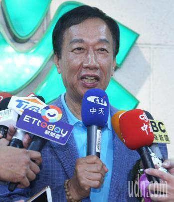 宣布參加國民黨總統初選的郭台銘。 聯合報系資料照/記者劉學聖攝影