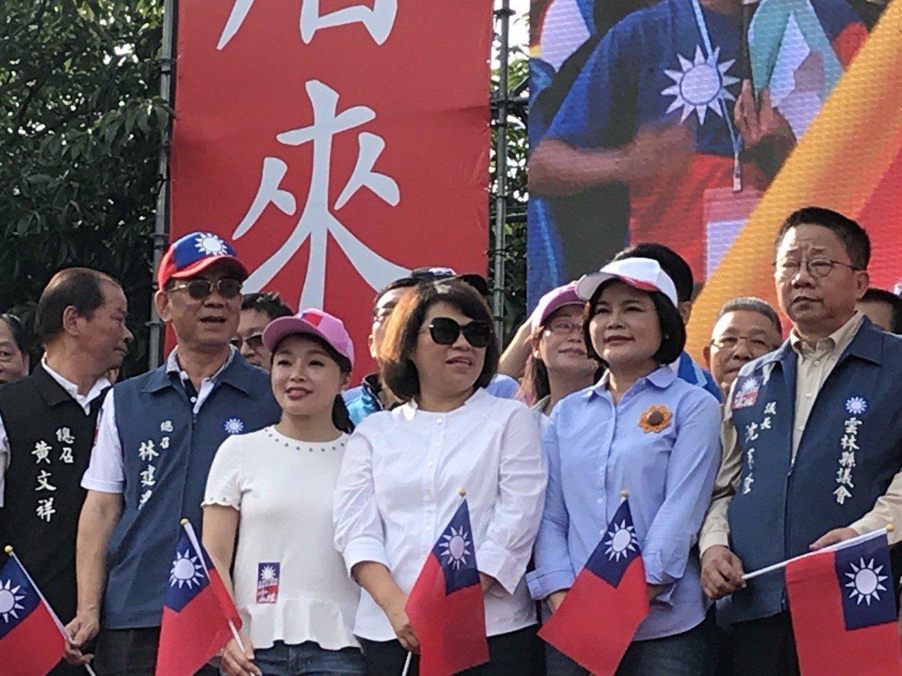 韓國瑜雲林造勢活動,泛藍力量展現團結氣勢。記者姜宜菁/攝影