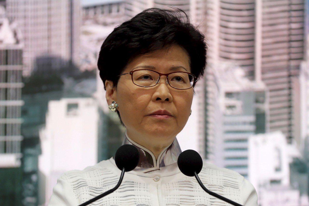 香港特首林鄭月娥15日召開記者會,宣布《逃犯條例》修訂暫緩。美聯社