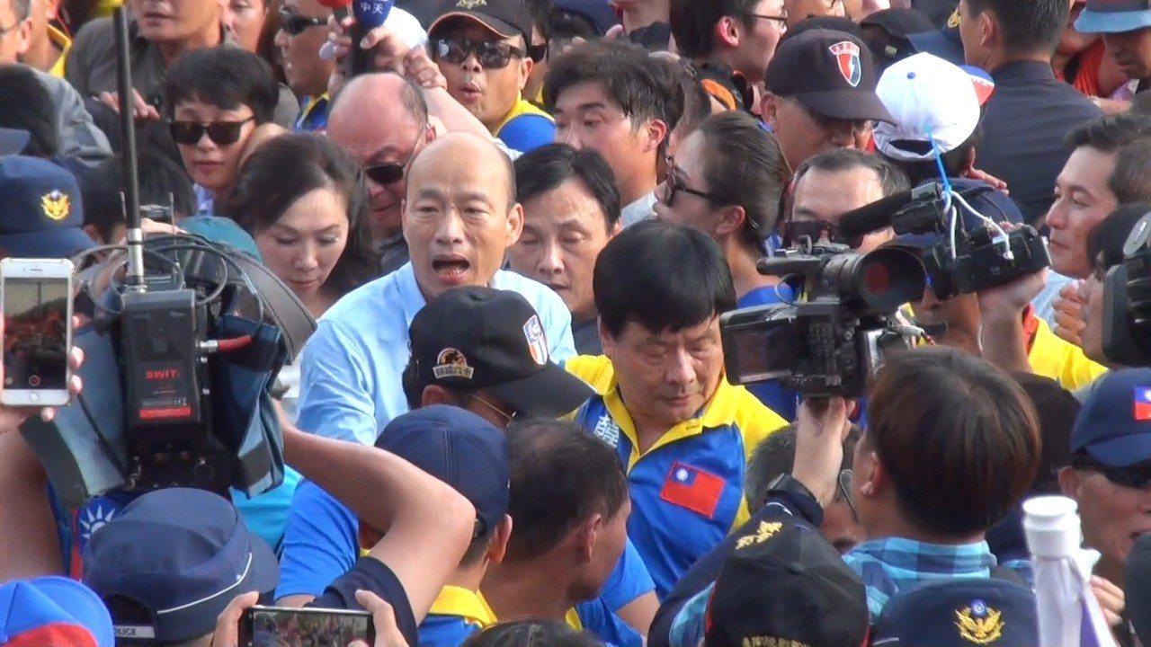 韓國瑜造勢成功能否換為選票,選民都在看。記者蔡維斌/攝影