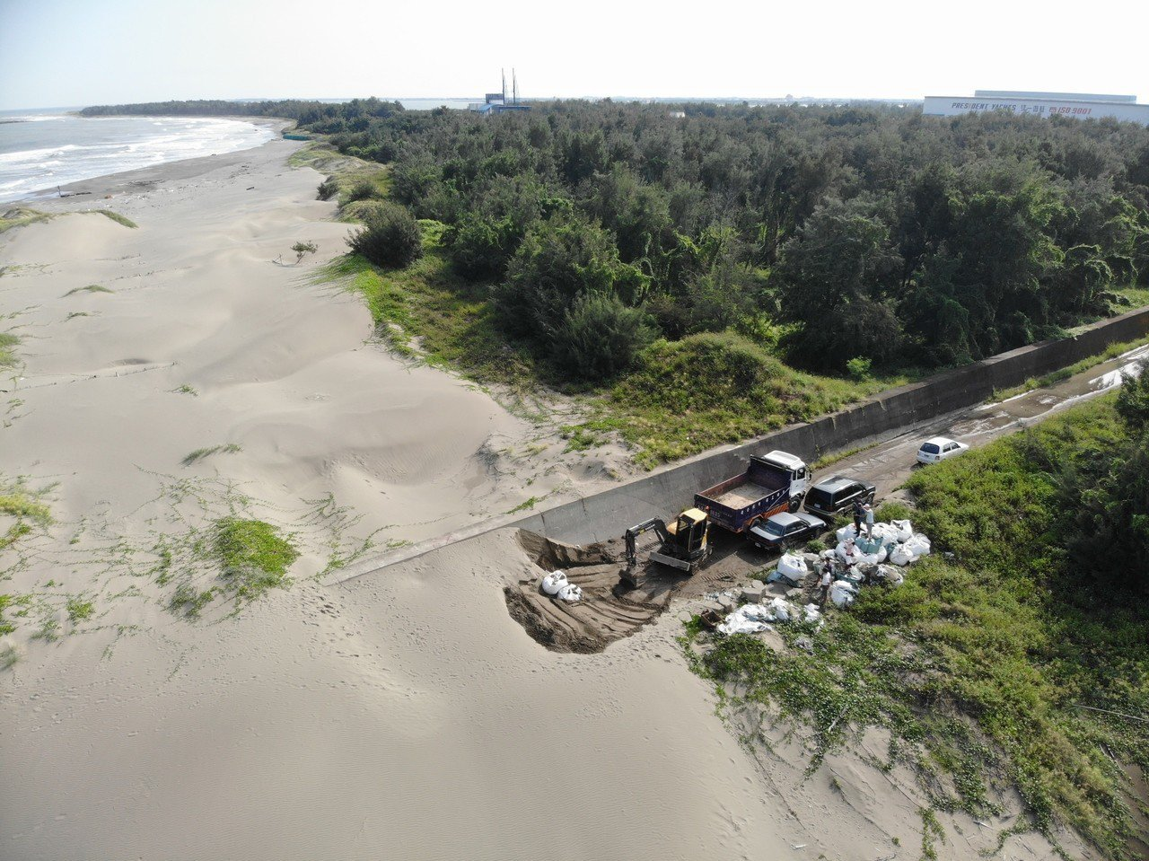 馬沙溝海灘大流失 一見雙雕沙雕另闢「沙」場