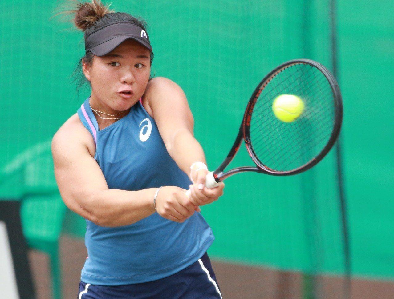 梁恩碩擔任第二點單打。圖/四維體育推廣教育基金會提供