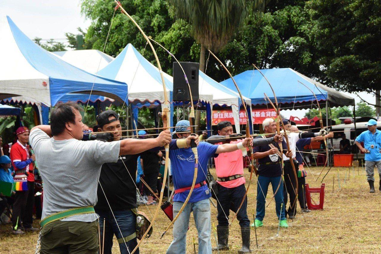 花蓮縣吉安鄉公所今辦射箭賽,吸引花東兩縣好手參與。圖/吉安鄉公所提供