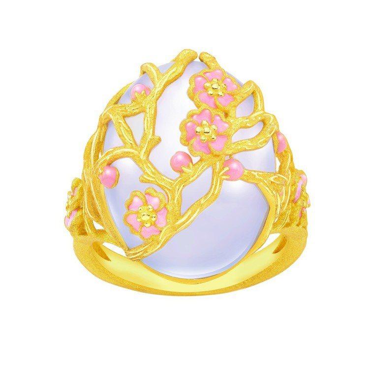 鎮金店喜.玲瓏圓形戒指,29,600元。圖/鎮金店提供