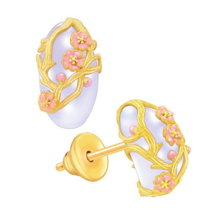 鎮金店喜.玲瓏圓形耳環,20,600元。圖/鎮金店提供