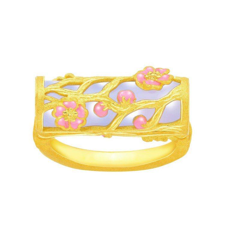 鎮金店喜.玲瓏戒指,29,600元。圖/鎮金店提供