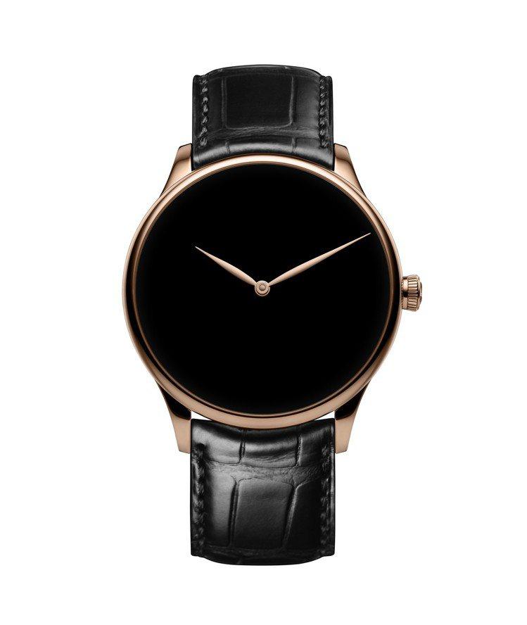 亨利慕時採用地表最黑物質,打造冒險者Vantablack®概念腕表,18K紅金表...