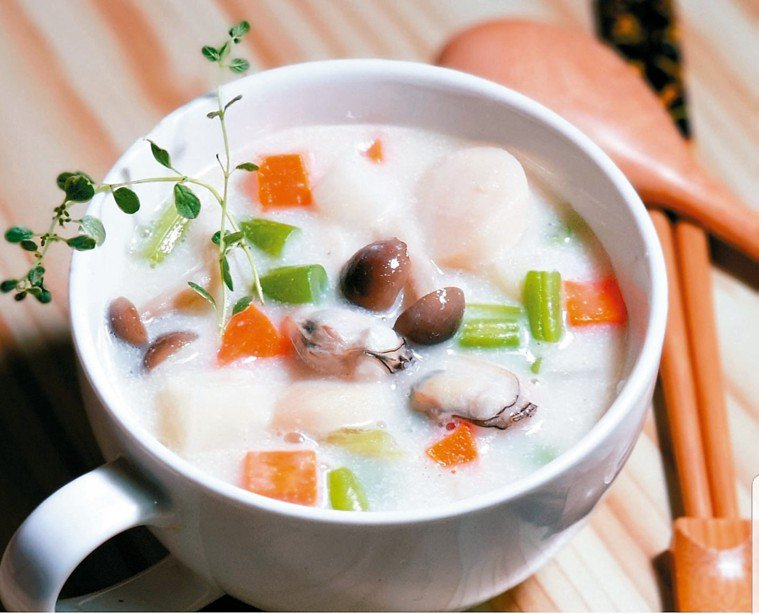 蔬菜蛤蠣巧達濃湯
