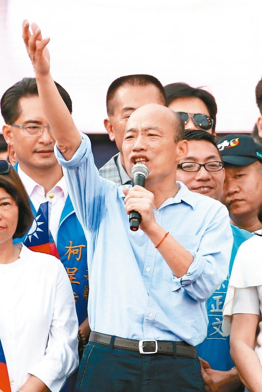 高雄市長韓國瑜昨天到雲林造勢,但黨內外、中央到地方各種批判質疑聲也緊逼。 記者黃...