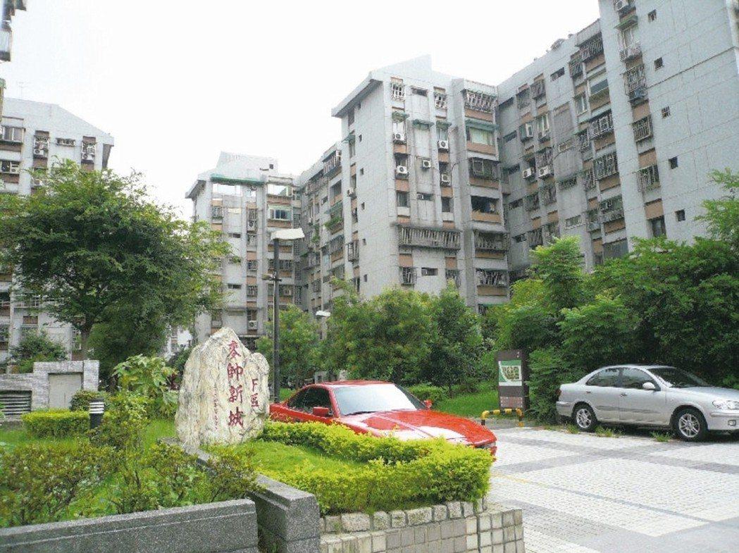 內湖區麥帥新城是台北市中古屋交易熱門建案。 本報系資料庫