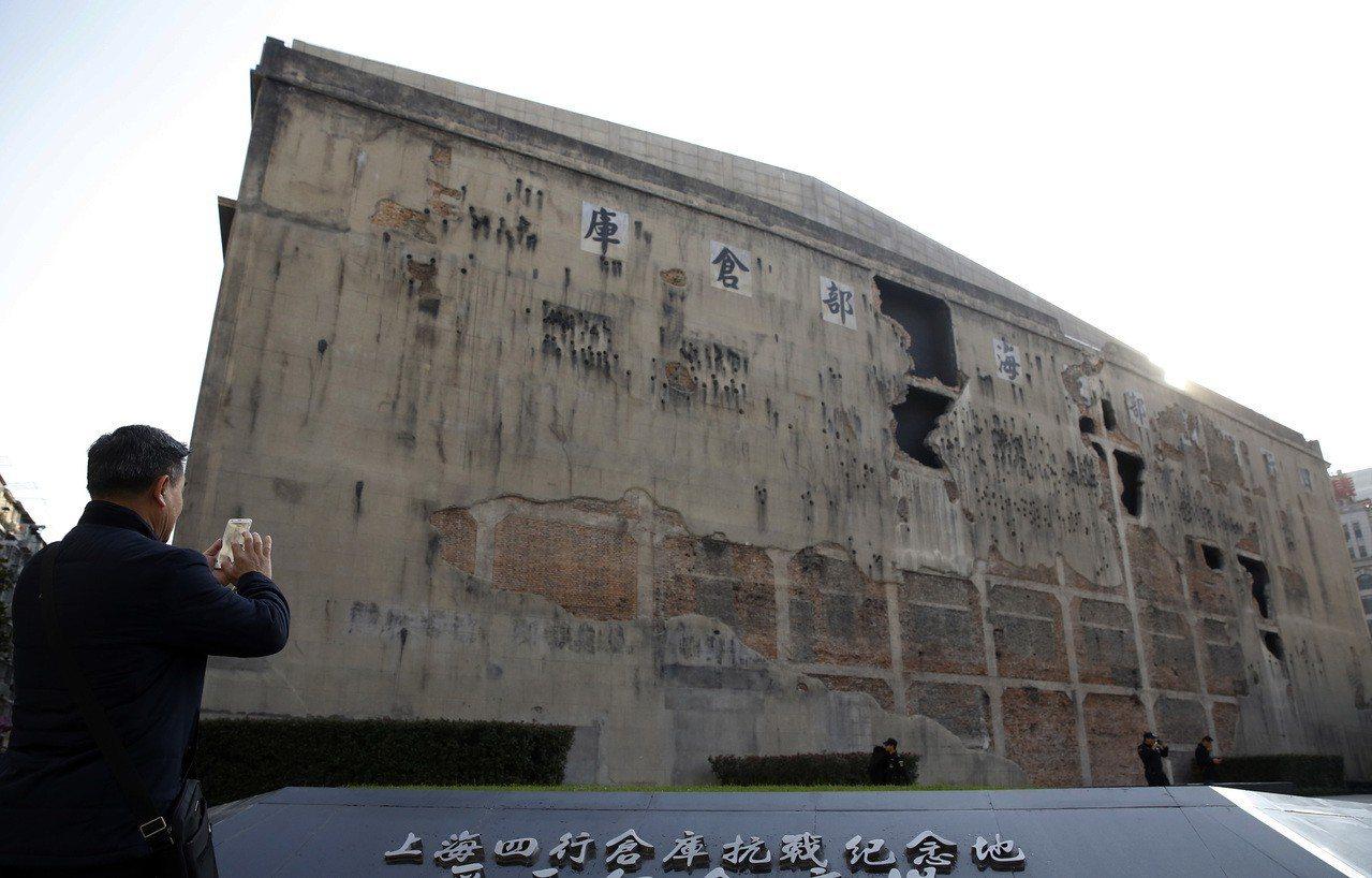 《八佰》描述「八百壯士」死守四行倉庫故事。圖為上海四行倉庫現況。 中新社資料照片