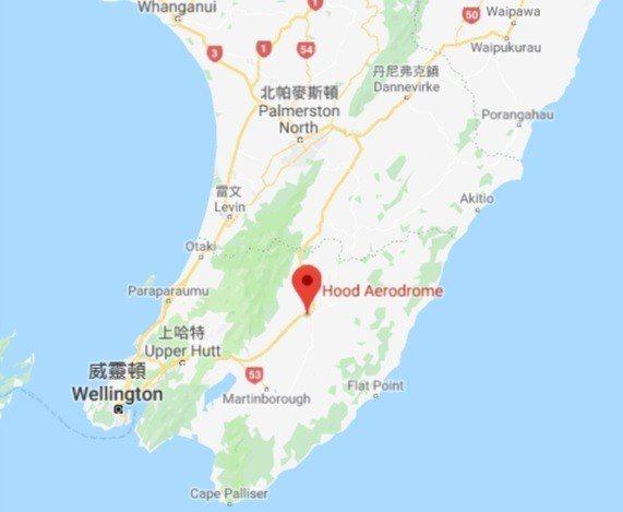 紐西蘭2架輕型飛機相撞,摔落在馬斯特頓(Masterton)城附近的胡德航空站(...