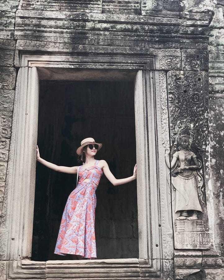 子瑜與家人到柬埔寨旅遊。 圖/擷自TWICE IG