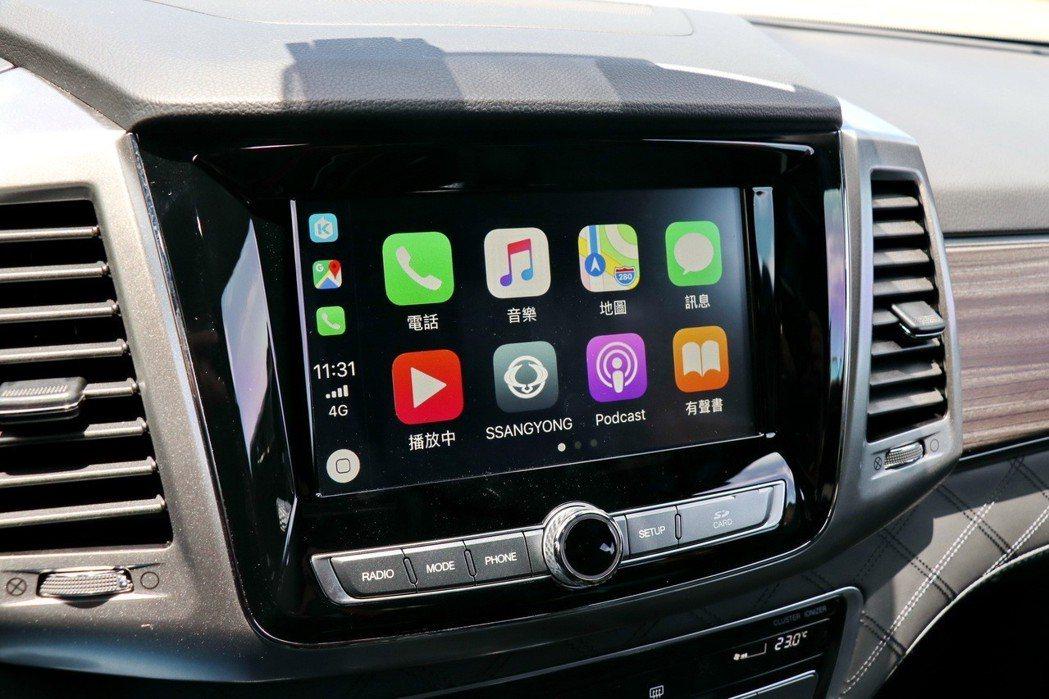 8吋可觸控的多功能資訊整合系統支援Apple Carplay / Android...