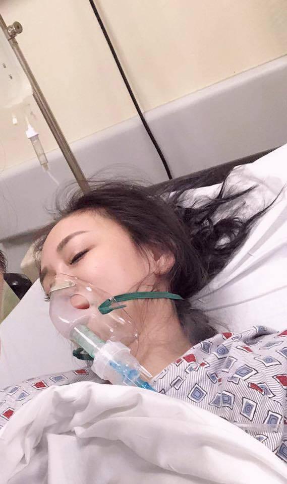 劉喬安疑對花生過敏,在美國送急診。 圖/擷自劉喬安臉書