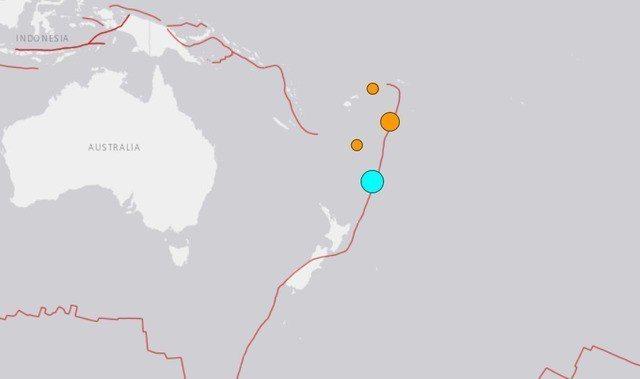 紐西蘭北部克馬得群島(Kermadec Islands)於台灣時間今日凌晨6時5...