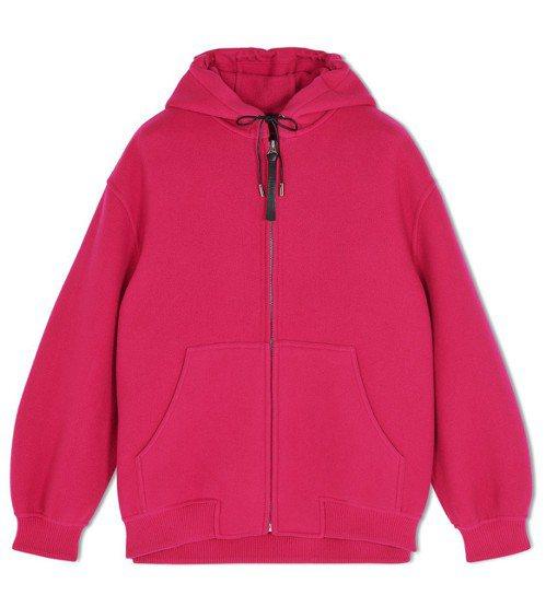 Berluti秋冬系列桃紅色羊毛外套,約13萬元。圖/Berluti提供