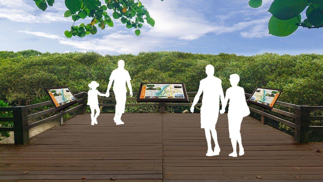新竹縣新豐紅樹林將新增導覽系統。圖/縣府提供