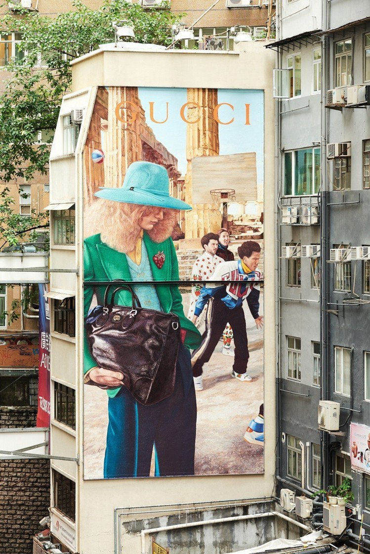 香港2019早秋藝術牆。圖/Gucci提供