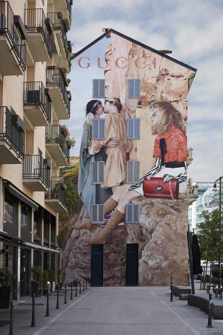 米蘭2019早秋藝術牆。圖/Gucci提供