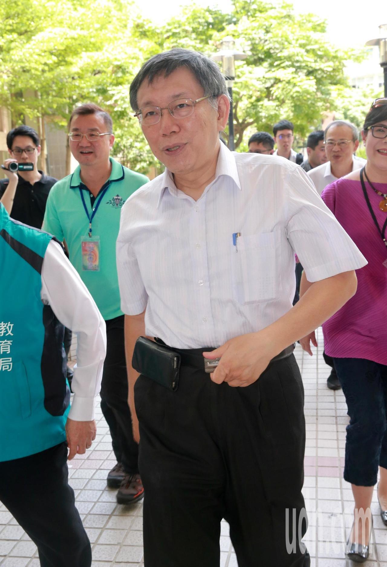 台北市長柯文哲對於民進黨批評他的兩岸立場表示,「抹紅柯文哲」是民進黨的一貫戰術從...