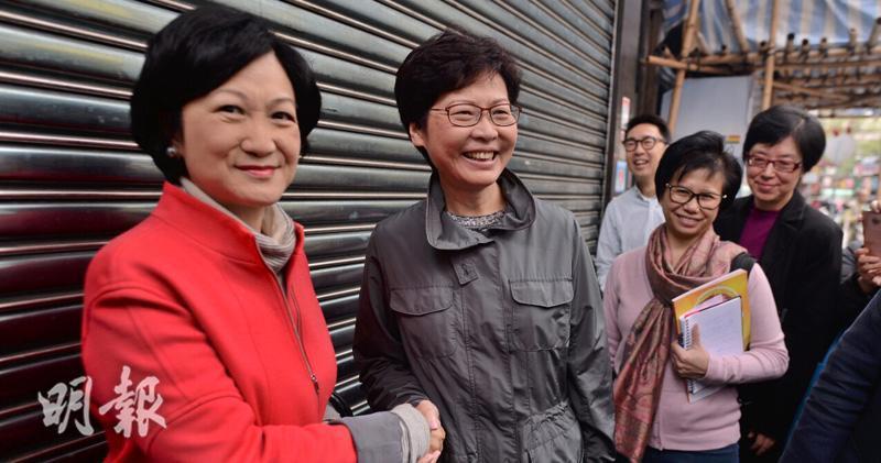 前保安局長葉劉淑儀(左)認為,林鄭月娥應向港人道歉。取自明報