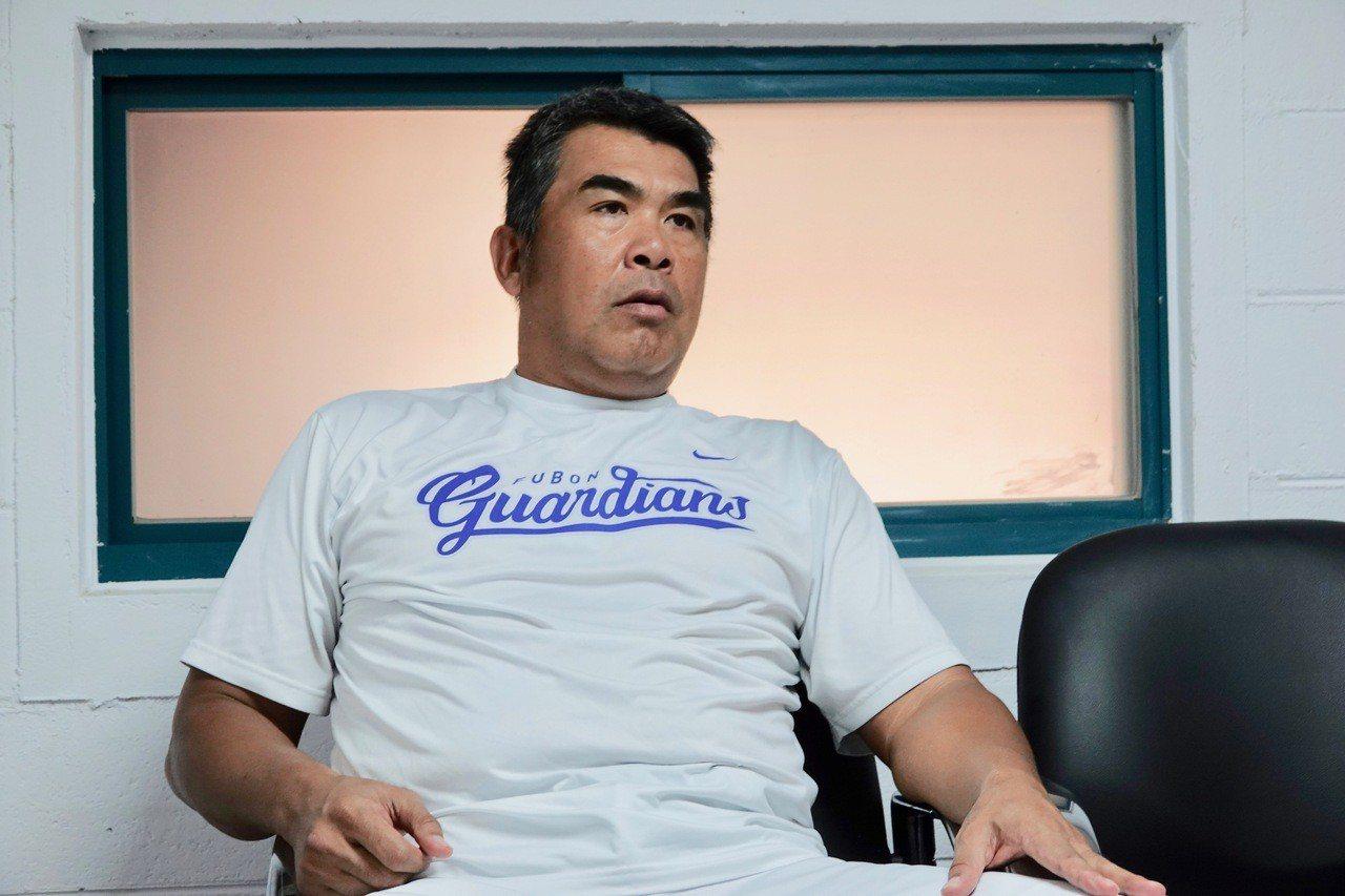富邦悍將隊總教練陳連宏。記者蘇志畬/攝影