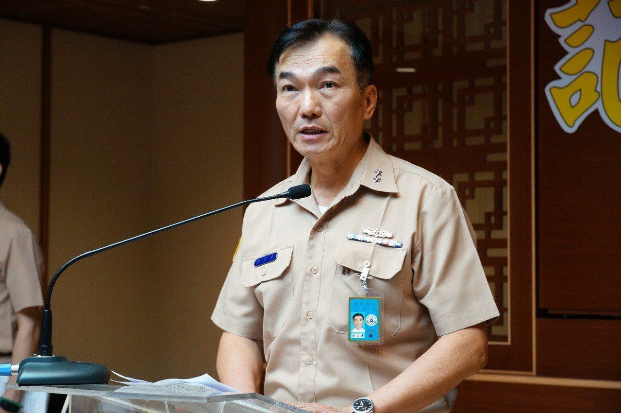 海軍艦隊指揮部中將指揮官李宗孝出面說明。記者林伯驊/攝影