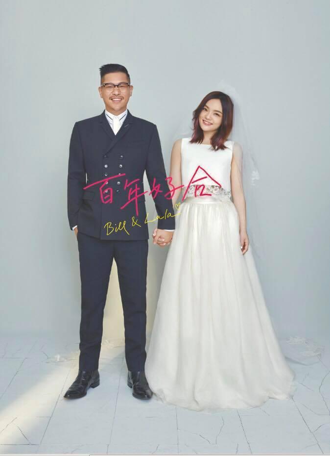 徐佳瑩和比爾賈婚後幸福。圖/摘自臉書