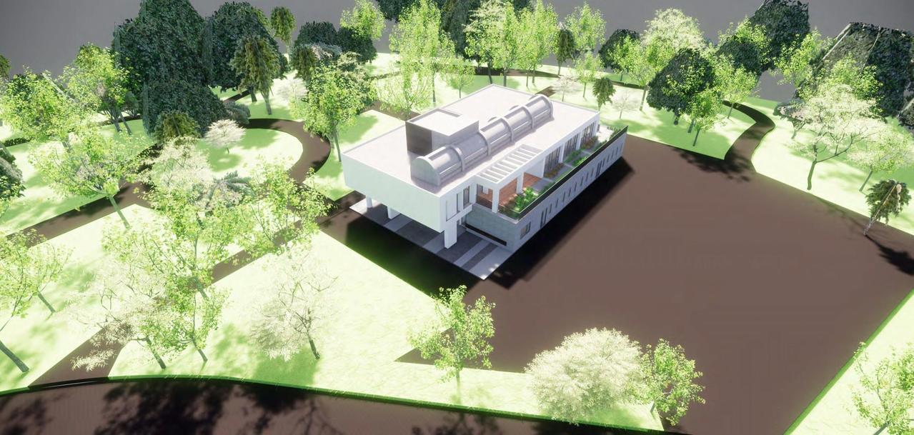 「柴橋社區長照複合中心」以透明落地窗打造自然採光、綠意通透的空間,社區民眾、日照...