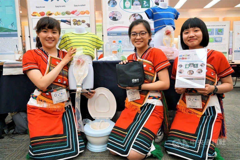 慈濟科大團隊設計的「好神通造口便袋」,在今年韓國WiC世界創新發明大賽中,獲得1...