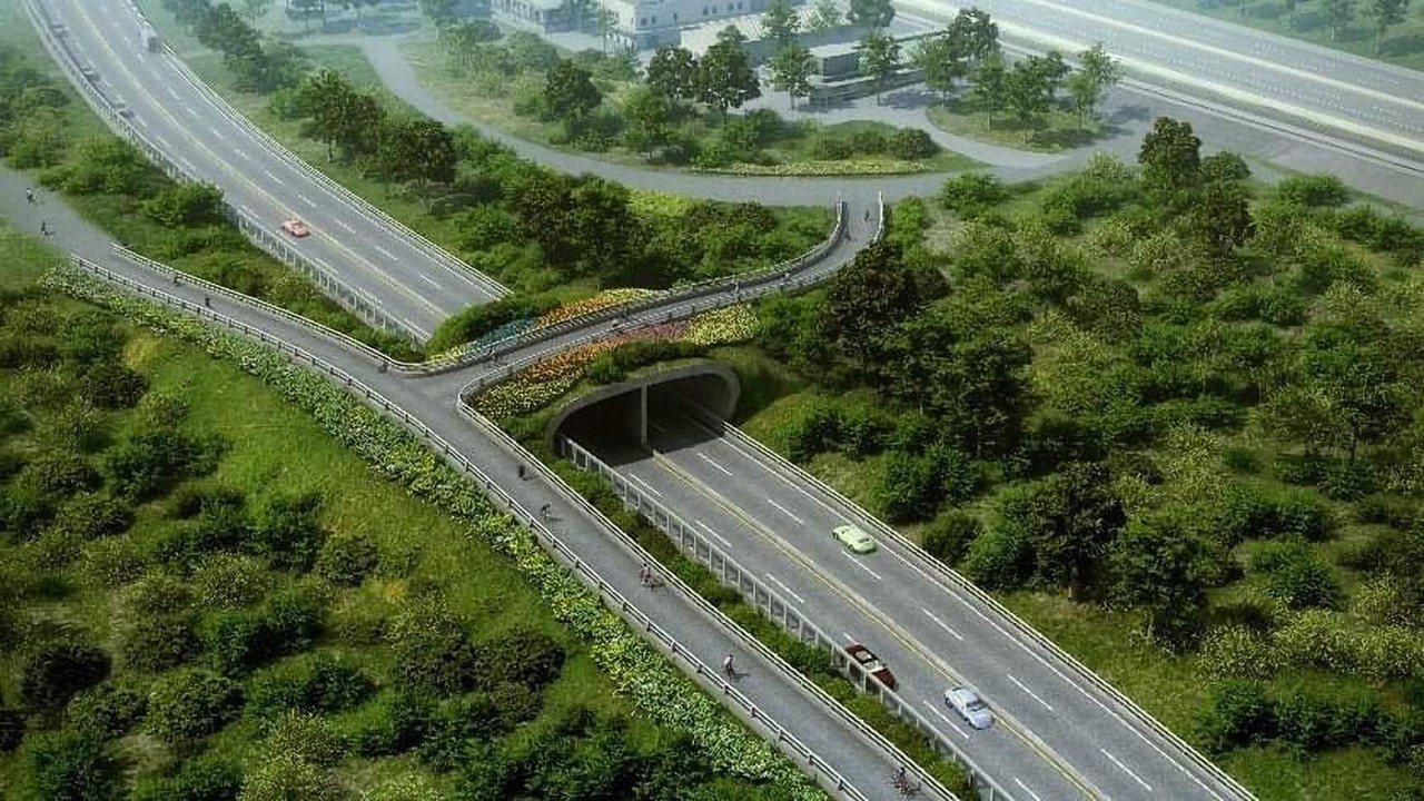 新北市府推動興建淡北道路,希望為淡水人開闢一條救命的路。模擬圖/市府提供