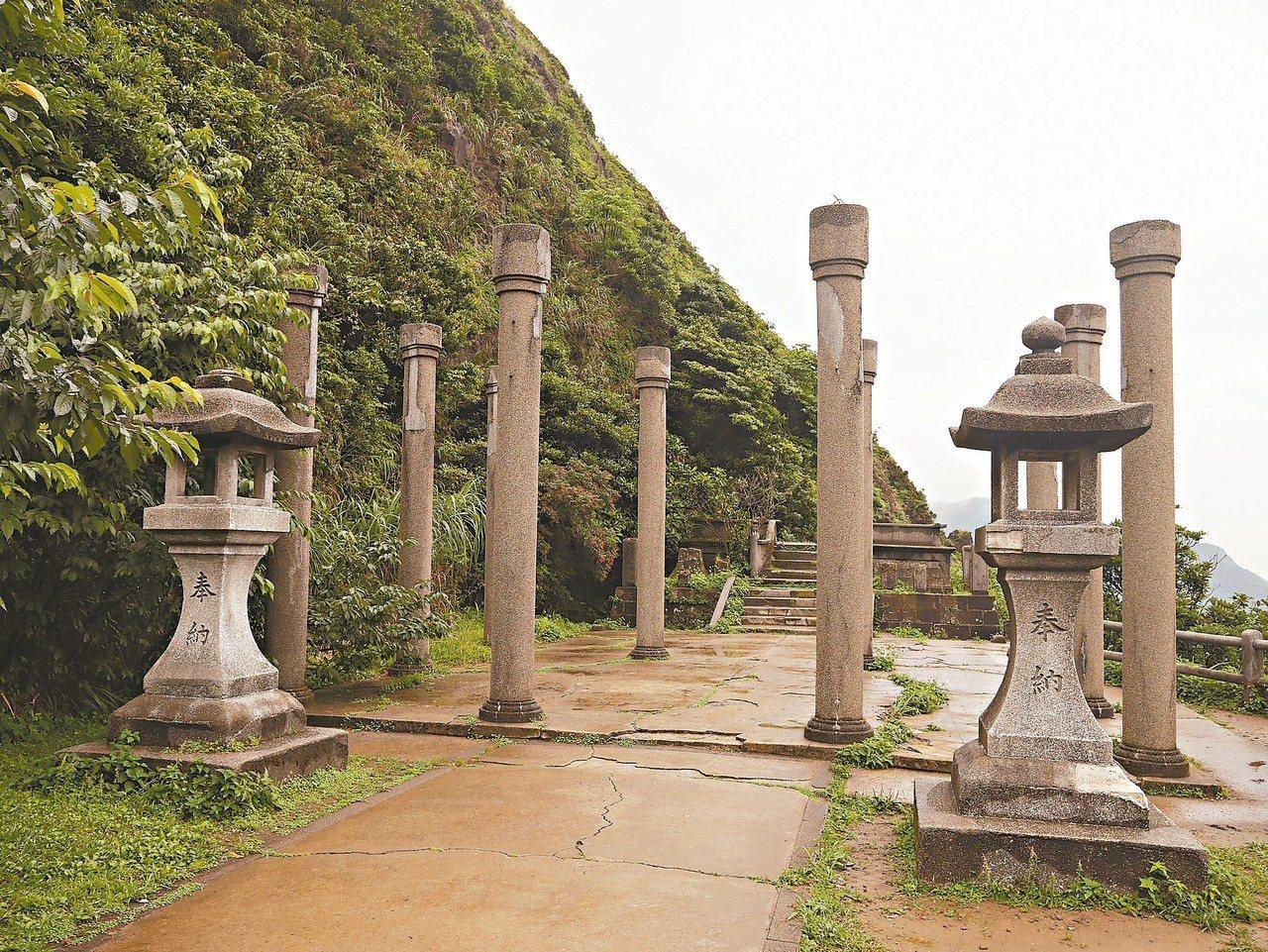 黃金神社殘蹟保留即將動工,台電還打算把過去神社整排的美麗櫻花,再種回來。 記者吳...