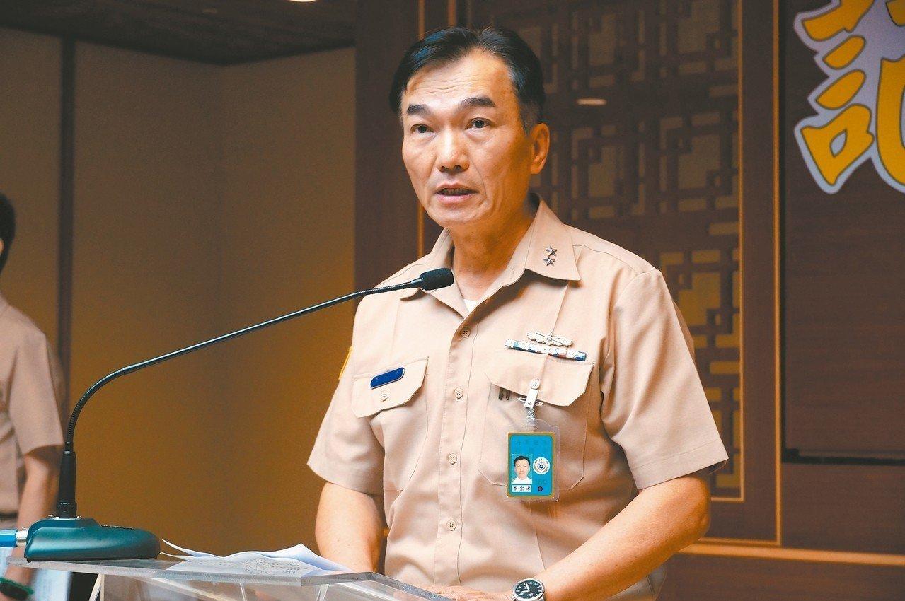 海軍艦指部中將指揮官李宗孝昨為此事道歉。 記者林伯驊/攝影