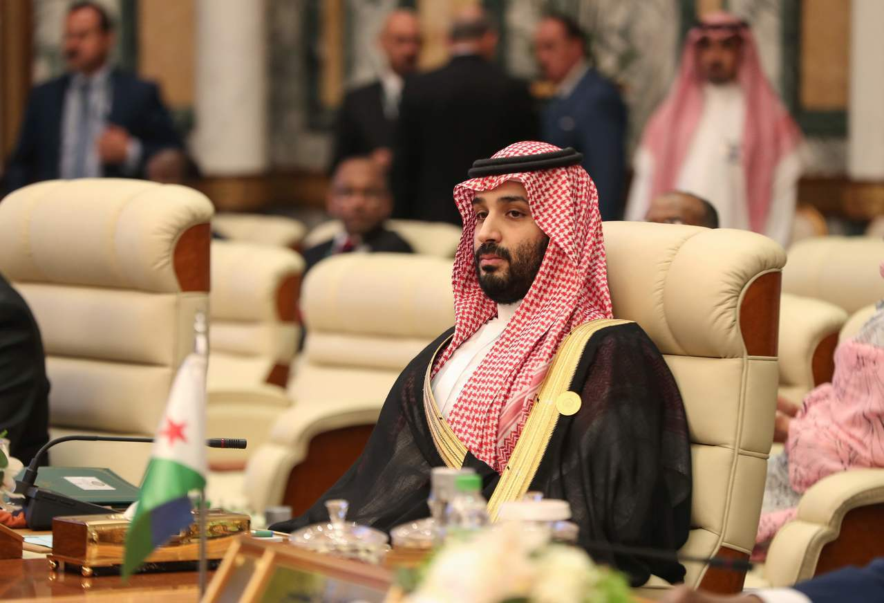 沙烏地阿拉伯王儲穆罕默德指控伊朗攻擊兩艘油輪。 (法新社)