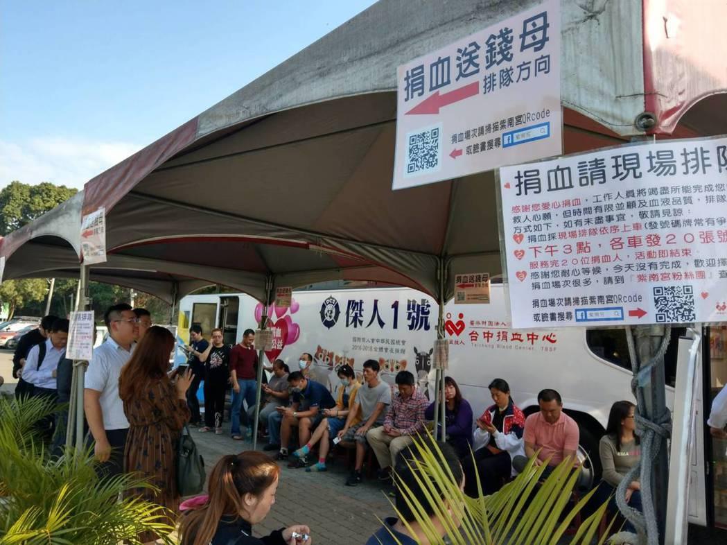 捐血換錢母,紫南宮邀請信徒踴躍捐血。 圖/聯合報系資料照片