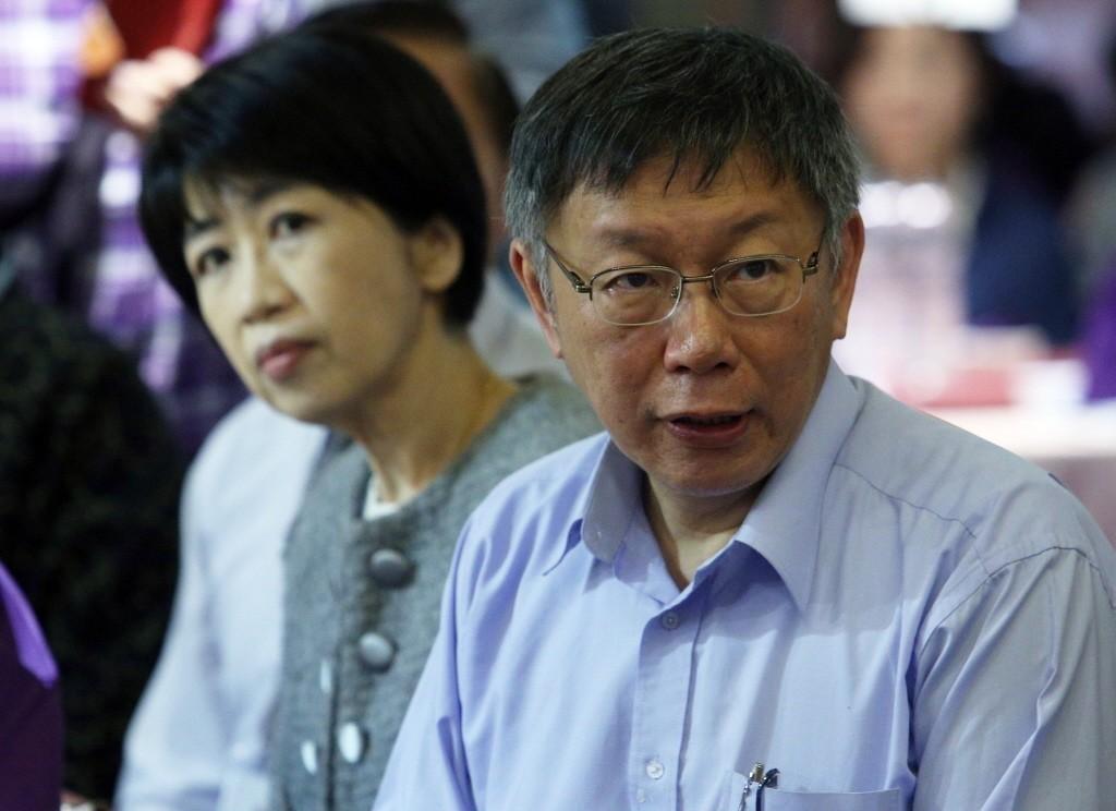 陳佩琪(左)是台北市長柯文哲(右)的堅實後盾。 圖/聯合報系資料照片