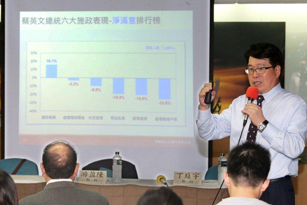 台灣民調基金會董事長游盈隆。圖/聯合報系資料照片
