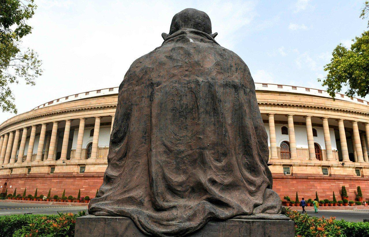 位在新德里的印度國會外觀。 (法新社)