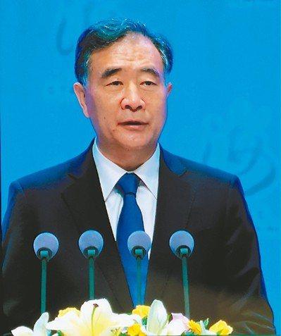 大陸全國政協主席汪洋 記者賴錦宏/攝影
