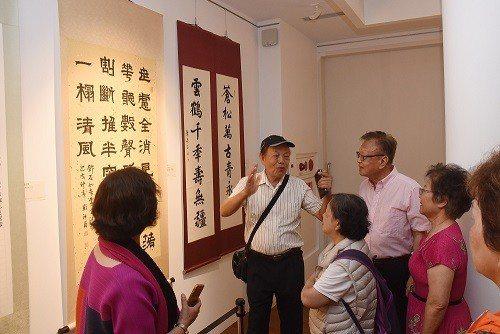 「中華書道學會己亥年會員展」於國立國父紀念館博愛藝廊展出,民眾熱烈參觀。  國父...