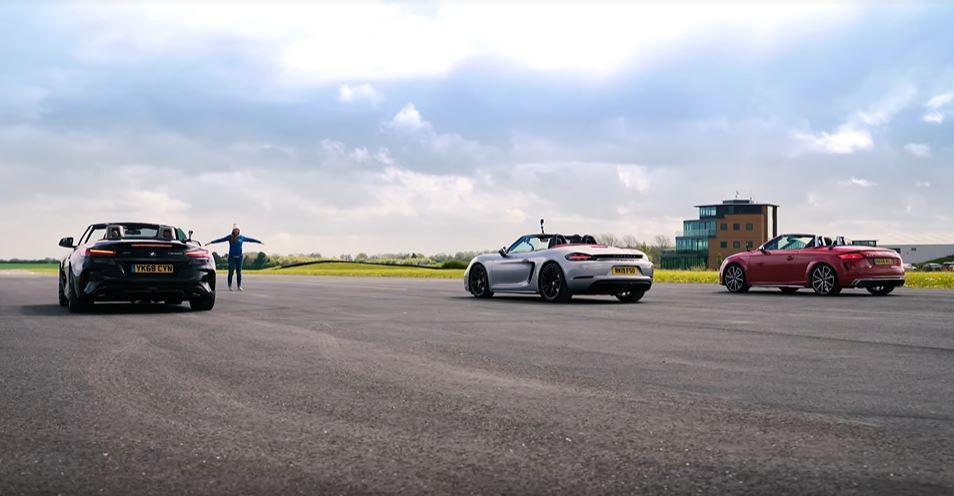 都是跑車,當然不免俗的要來比拚一下零四加速啦! 擷自carwow影片