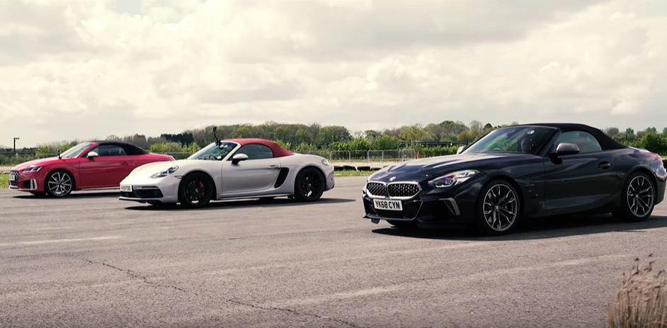 影/敞篷大作戰Z4 M40i、Audi TTS、Boxster GTS這次不僅要拚加速 更要拚開篷速度!