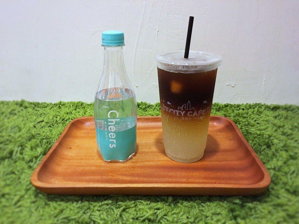 氣泡水第一品牌Cheers與超商咖啡龍頭CITY CAFE合作推出全新飲品「西西...