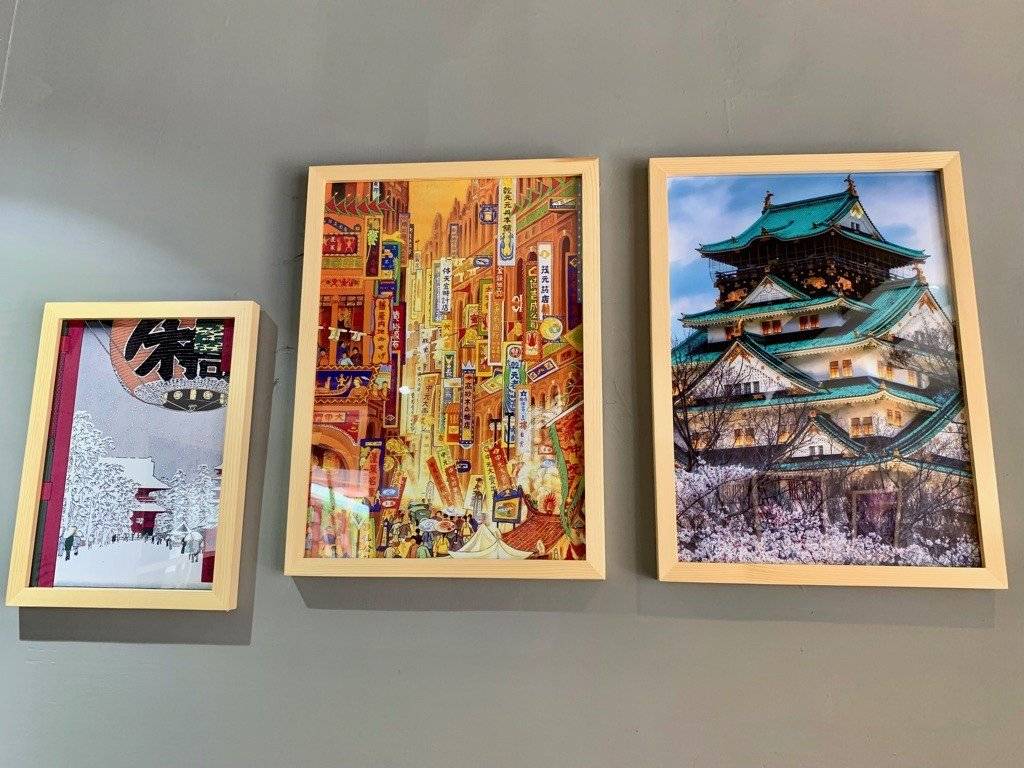 室內透明窗戶,懸掛日本圖畫_ 板橋吉村牛舌