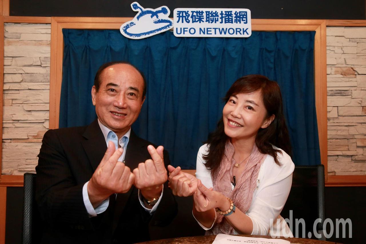 立法院前院長王金平中午前往飛碟電台,接受飛碟午餐尹乃菁專訪。記者黃義書/攝影