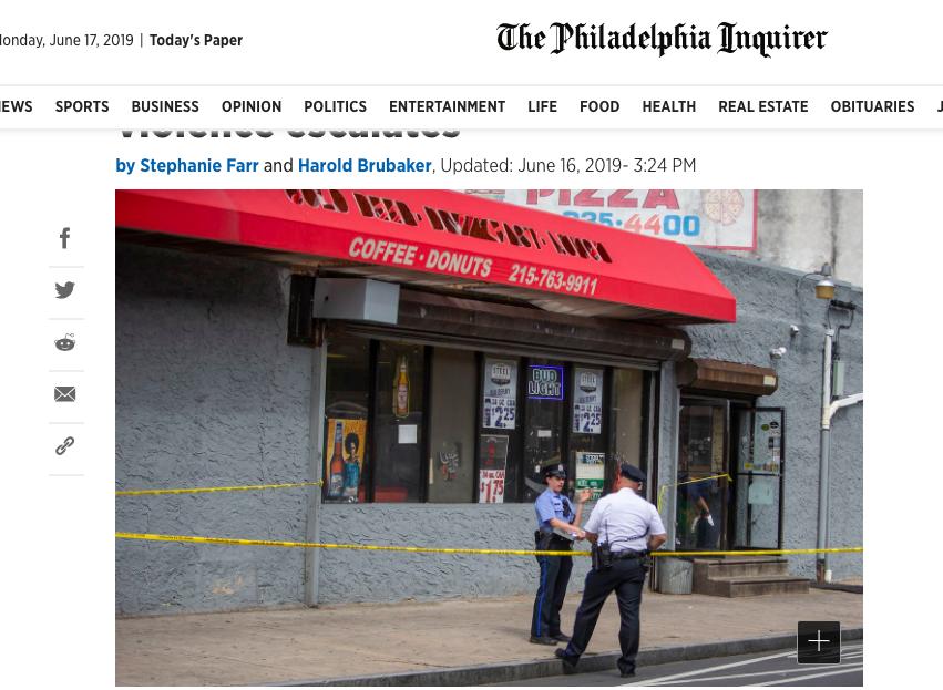 費城畢業派對變成大規模槍擊案。截自The Philadelphia Inquir...