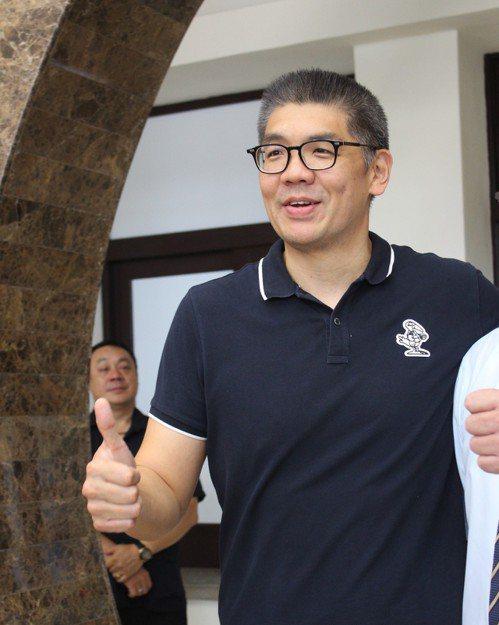 中華民國霹靂舞協會理事長連勝文今天到訪新竹。記者張雅婷/攝影