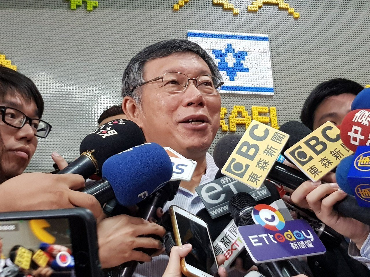 台北市長柯文哲今天上午出席活動受訪。記者翁浩然/攝影